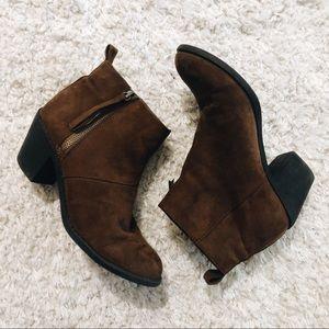 brown ankles booties